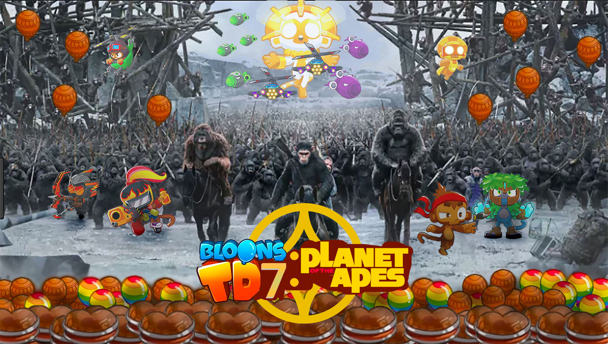 BTD7: Planet of the Apes | Bloons Conception Wiki | FANDOM powered