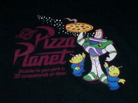Pizza Planet Shirt close-up
