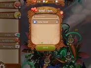 Send Lives invite friends screen