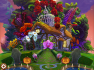 Blossom Blast Saga main menu background (halloween-theme)