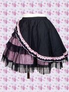 Black-and-Pink-Punk-Lolita-Skirt-LS18-300x400