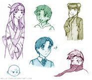 Random XS Doodles by mellie chan
