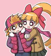 Momoko and Brick by cc kk