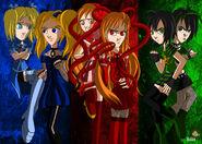 Powerpuff girls and powerpunk girls by misshales-d4k4nb2