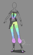 Colorful outfit adopt sold by nahemii san-d7gq5en