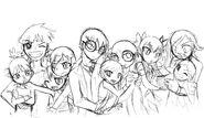 Family portrait sketch by bleedmanlover-d55z4v8