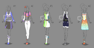 Colorful outfits 6 one left by nahemii san-d7ru2jx