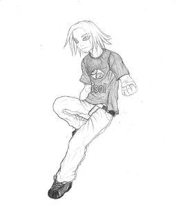 Boomer as a teen Rowdyruff boy by Underdell
