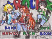 Chibi rowdyrock boys by sweetxdeidara-d47yiao