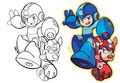 Mega Man and Rush (Inks to Colors).jpg