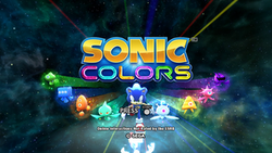 Sonic Colours Title Screen