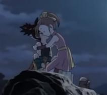 Kluke hugging Shu