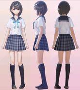 Hinako Shirai School Uniform 3D Model