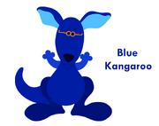Blue kangaroo