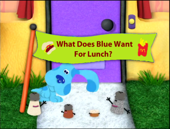 what does blue want for lunch - Blue Clues
