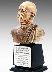 Hare krishna, Prabhupada, busto de bronce, invertido