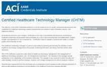 Certification chtm