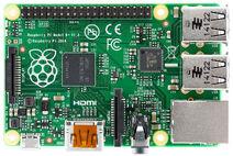 Raspberry Pi B top