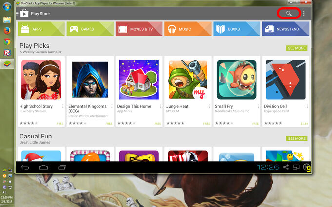 Bluestacks PlayStore Search