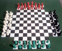 Four-Handed Chess Set