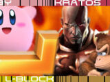 Kirby vs L-Block vs Kratos vs Donkey Kong 2007