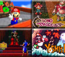 Super Mario 64 vs Castlevania: Symphony of the Night vs Chrono Trigger vs Super Mario World 2: Yoshi's Island 2009