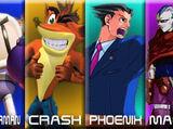 Bomberman vs Crash Bandicoot vs Phoenix Wright vs Magus 2007