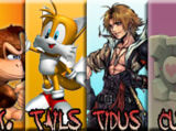 """Donkey Kong vs Miles """"Tails"""" Prower vs Tidus vs Weighted Companion Cube 2008"""
