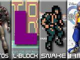 Kratos vs L-Block vs Solid Snake vs Riku 2007