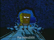 Casa de calamardo destruida