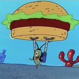 Plankton con la Cangreburger