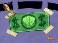 Primer dolar de don cangrejo en su trasero