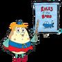 Señora Sra Puff de Bob Esponja