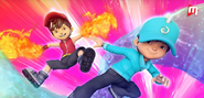 BoBoiBoy Fire and Water opening