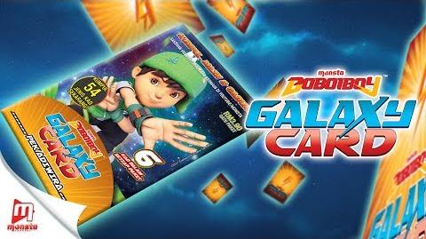 BoBoiBoy Galaxy Card - Pek BoBoiBoy Daun (unpacking)