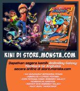BoBoiBoy Galaxy Comic Book - Kembara ke Angkasa