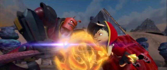 Fail:BoBoiBoy Blaze vs Bora Ra.jpg