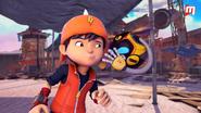 Ochobot whispering to BoBoiBoy