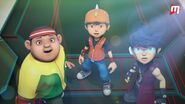 BBBG Ep.10 screencap: Gopal, Boboiboy and Fang