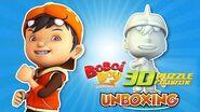 BoBoiBoy White 3D Puzzle Figurine Unboxing