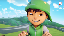 BoBoiBoy Daun tersengih