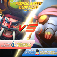 Popularity Contest Captain Vargoba VS Pirate Robot Kassim's friends