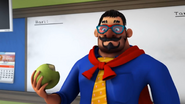 Papa Zola eating apple
