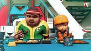 Gopal and boboiboy during lunch break