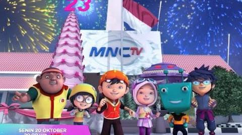 Ucapan Selamat Ulang Tahun Ke-23 MNCTV dari Boboiboy
