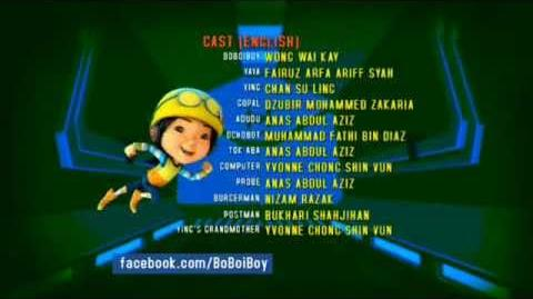 BoBoiBoy Hang on Tight Ending Credits