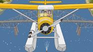 S4E03.08 The Seaplane Flying Over the Bridge