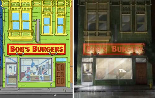 Bobs-Burgers-Wiki Archer Bobs-Burgers Split-comparison 01