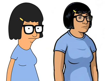 Bobs-Burgers-Wiki Archer Tina Split-comparison 01a