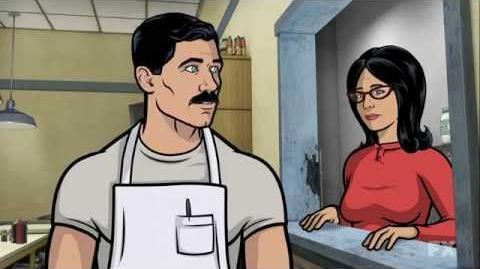 Archer on Bob's Burgers